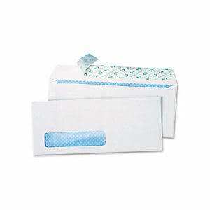 Redi-Strip Security Tinted Window Envelope, #10, White, 500 per Box (QUA69222)