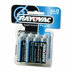 Rayovac Alkaline Batteries, AA, 8/Pack (RAY8158CF)