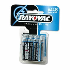 Rayovac Alkaline Batteries, AAA, 8/Pack (RAY8248C)