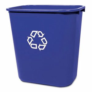 Rubbermaid 295673 Deskside 7 Gallon Recycling Can, Blue (RCP295673BE)