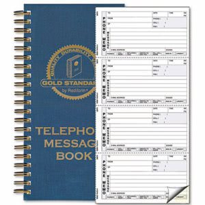 Rediform Wirebound Message Book, Two-Part Carbonless, 600 Sets (RED50079)
