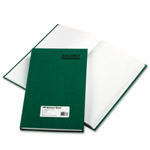 National Brand Emerald Series Account Book, Green Cover, 300 Pages (RED56131)
