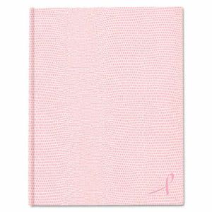Blueline Large Executive Notebook w/Cover, College/Margin, Pink (REDA10PNK2)
