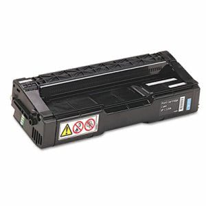 Ricoh 406047 Toner, 2000 Page-Yield, Cyan, 1 Each (RIC406047)