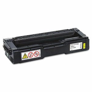 Ricoh 406347 Toner, 2500 Page-Yield, Yellow, 1 Each (RIC406347)