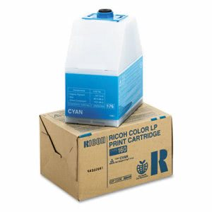 Ricoh 888445 Toner, 10000 Page-Yield, Cyan, 1 Each (RIC888445)