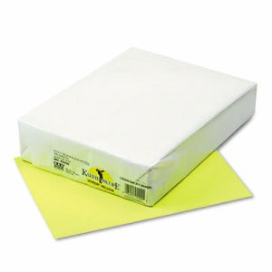 Pacon Multipurpose Colored Paper, 24-lb, Hyper Yellow, 500 Sheets (PAC102200)