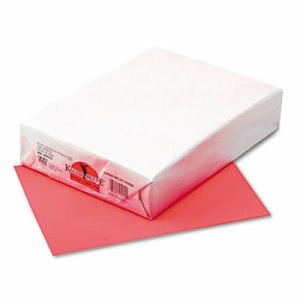Pacon Multipurpose Colored Paper, 24-lb, Coral Red, 500 Sheets (PAC102212)