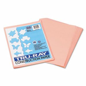 Pacon Tru-Ray Construction Paper, 9 x 12, Salmon, 50 Sheets/Pack (PAC103010)