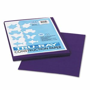 Pacon Tru-Ray Construction Paper, 9 x 12, Purple, 50 Sheets/Pack (PAC103019)