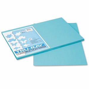 Pacon Tru-Ray Construction Paper, 12 x 18,Turquoise, 50 Sheets (PAC103039)