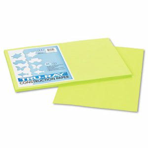 Pacon Tru-Ray Construction Paper, 76 lbs., 12 x 18, Brilliant Lime, 50 Sheets/Pack (PAC103425)