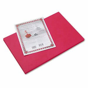 Pacon Riverside Construction Paper, 76 lbs., 12 x 18, Red, 50 Sheets (PAC103614)