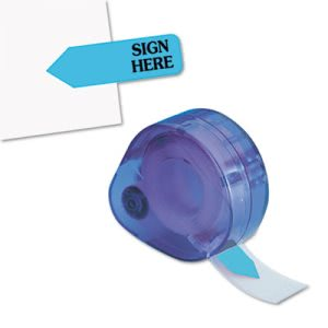 "Arrow Message Page Flags in Dispenser, ""Sign Here"", Blue, 120 Flags (RTG81034)"