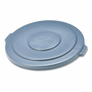 Rubbermaid 2654 Brute Round 55 Gallon Trash Can Lid, Gray (RCP 2654 GRA)