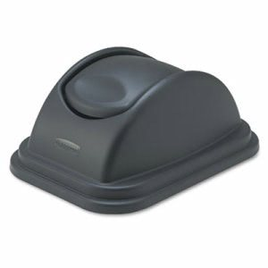 Rubbermaid 306700 Untouchable Swing Lid for 2957 Container, Black (RCP306700BK)