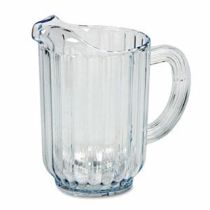 Bouncer Pitchers, 60-oz. Capacity, Clear, 6 Pitchers (RCP 3338 CLE)