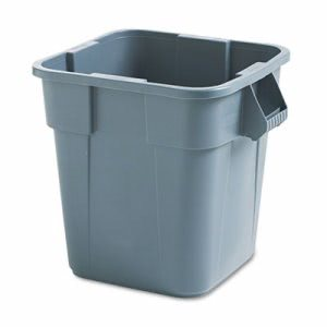Rubbermaid Brute Square 28 Gallon Container, Gray, Each (RCP352600GY)