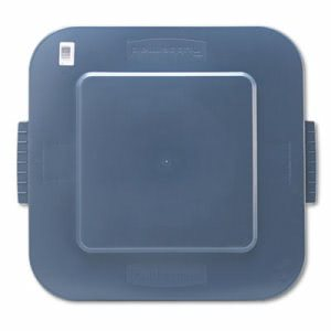 Rubbermaid 353900 Square Brute Lid, Gray (RCP353900GY)