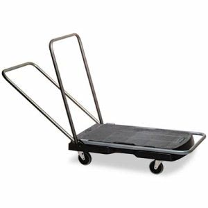 Rubbermaid 440000 Triple Trolley Utility-Duty Cart, 250 lb Capacity (RCP440000)