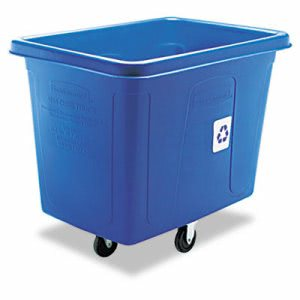 Rubbermaid 461673 Recycling Cube Truck, 500-lb. Capacity, Blue (RCP461673BE)