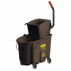 Rubbermaid 758088 WaveBrake 35 Quart Bucket/Side Press Wringer (RCP758088BN)