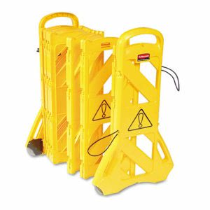 Rubbermaid 9S11 Extendable 13' Safety Barrier, Yellow (RCP9S1100YEL)