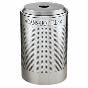 Rubbermaid Silhouette 26 Gallon Recycling Receptacle, Silver (RCPDRR24CSM)