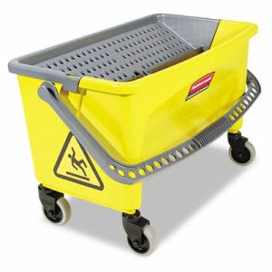 Rubbermaid Q900-88 Hygen Press Wring Microfiber Mop Bucket, Yellow (RCP Q900-88)