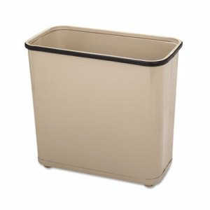 Rubbermaid WB30 Steel 7.5 Gallon Wastebasket, Almond (RCPWB30RAL)