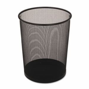 Rubbermaid WMB20 Steel Mesh 5 Gallon Waste Can, Black, 6 Cans (RCPWMB20BKCT)