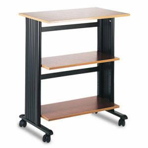 Safco Mobile Machine Cart, 3-Shelf, 29-1/2w x 20d x 35h, Black (SAF1881CY)
