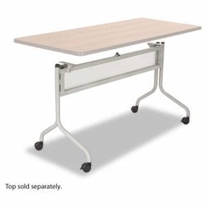 Safco Mobile Training Table Base, 49-1/2w x 24d x 28h, Silver (SAF2031SL)