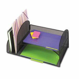 Safco Durable Desk Organizer, Steel, Black, 1 Each (SAF3264BL)