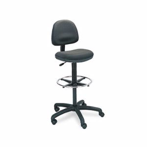 Safco Precision Extended Height Swivel Stool w/Adjustable Footring (SAF3401BL)