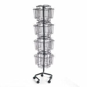 Safco Display Racks, 32 Compartments, 15w x 15d x 60h, Charcoal (SAF4128CH)