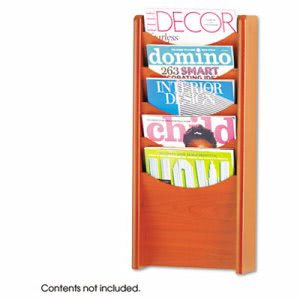 Safco Solid Wood Wall-Mount Literature Display Rack, Cherry (SAF4330CY)