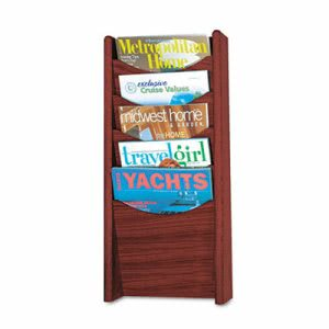 Safco Solid Wood Wall-Mount Literature Display Rack, Mahogany (SAF4330MH)