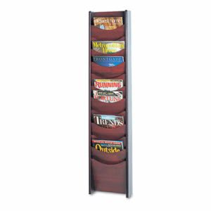 Safco Solid Wood Wall-Mount Literature Display Rack, Mahogany (SAF4331MH)
