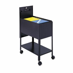 Safco Extra-Deep Locking Mobile Tub File, Steel, Black (SAF5362BL)