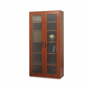 Safco Apres Tall 2 Door Cabinet, 29-3/4w x 11-3/4d x 59-1/2h, Cherry (SAF9443CY)