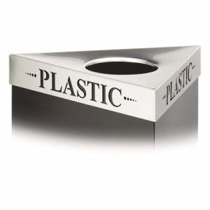 "Safco Lid For Trifectat Receptacle, Laser Cut ""PLASTIC"" Inscription (SAF9560PC)"