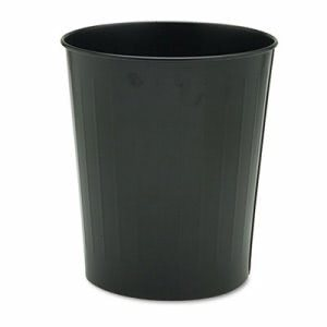 Safco Fire-Safe Wastebasket, Round, Steel, 23 1/2 qt, Black (SAF9604BL)