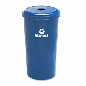 Safco Tall Recycling Receptacle, Round, Steel, 20 gallon, Blue (SAF9632BU)