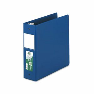 "Samsill Clean Touch Antimicrobial Locking Round Ring Binder, 11 x 8-1/2, 3"" Cap, DK Blue (SAM14382)"