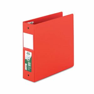 "Clean Touch Antimicrobial 3"" Locking Round Ring Binder, Red (SAM14383)"
