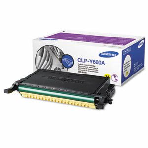 Samsung CLPY660A Toner, 2000 Page-Yield, Yellow (SASCLPY660A)