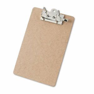 "Saunders Arch Clipboard, 2"" Capacity, Holds 8-1/2""w x 12""h, Brown (SAU05712)"