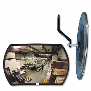 "See All 160 degree Convex Security Mirror, 18"" w x 12"" h (SEERR1218)"