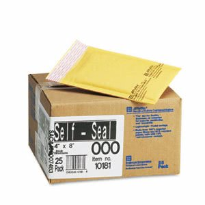 Sealed Air Jiffylite Self-Seal Mailer, #000, 4 x 8, 25 Mailers (SEL10181)